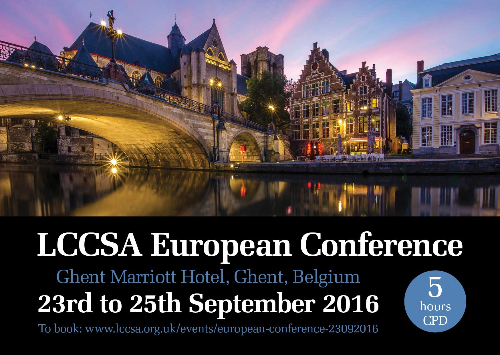 Advert for LCCSA European Conference (2016)