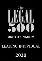 Legal 500 Leading Individual 2020 badge for the United Kingdom